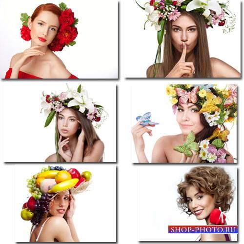 Фоны для фото - 12 весенних девушек с цветами