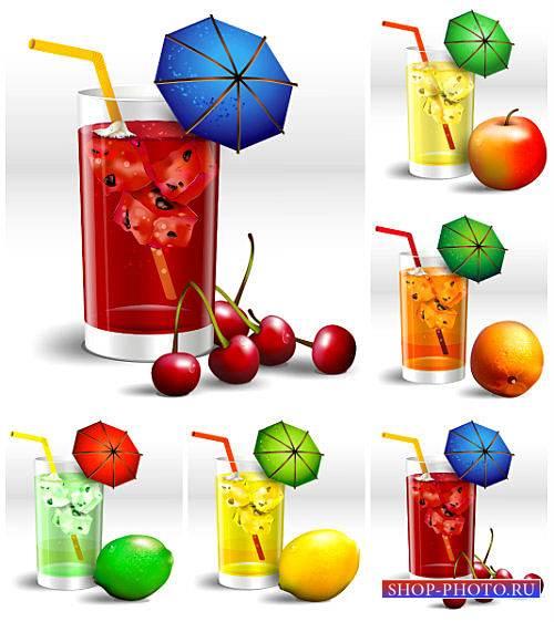 Фруктовые напитки в векторе / Fruit drinks vector