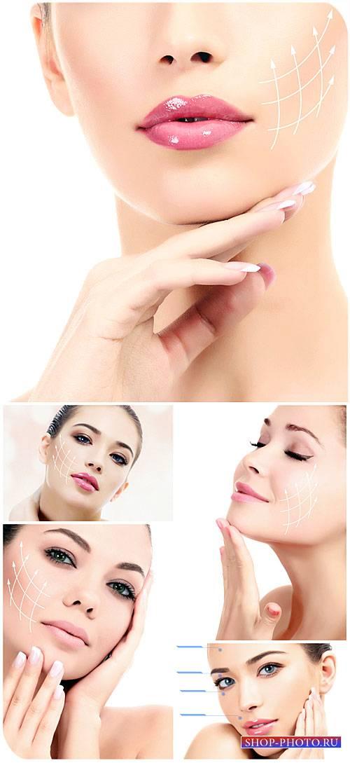 Женская красота, уход за лицом / Feminine beauty, beautiful girl, facials - ...