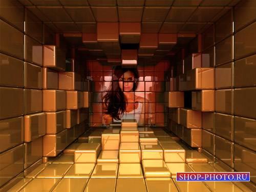 Рамка для фотографии - Ваше фото из кубов