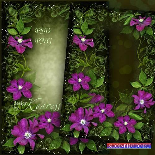 Цветочная женская рамка для фотографий - Яркие, чудесные цветы