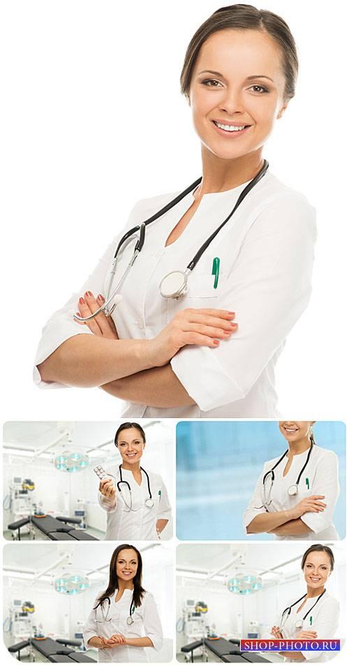 Женщина врач, медицина - сток фото / Female doctor, medicine - stock photos