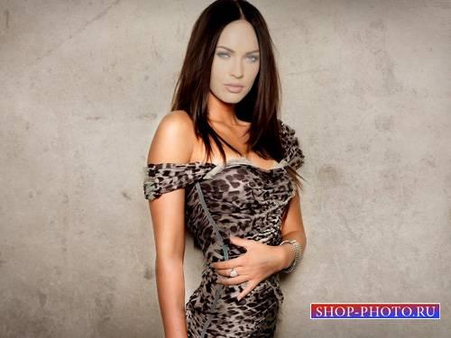 Шаблон psd женский - Модель в красивом платье