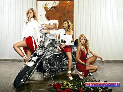 Шаблон для фотомонтажа - Вы и три классных блондинки с группы Рефлекс