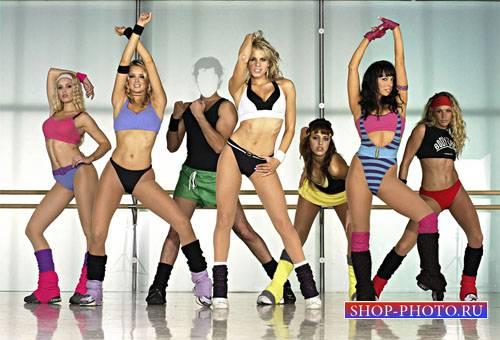 PSD шаблон для мужчин - Спортивные девушки с вами