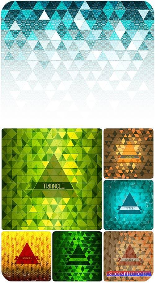 Абстракция в векторе, сияющие фоны / Abstract vector, shining backgrounds