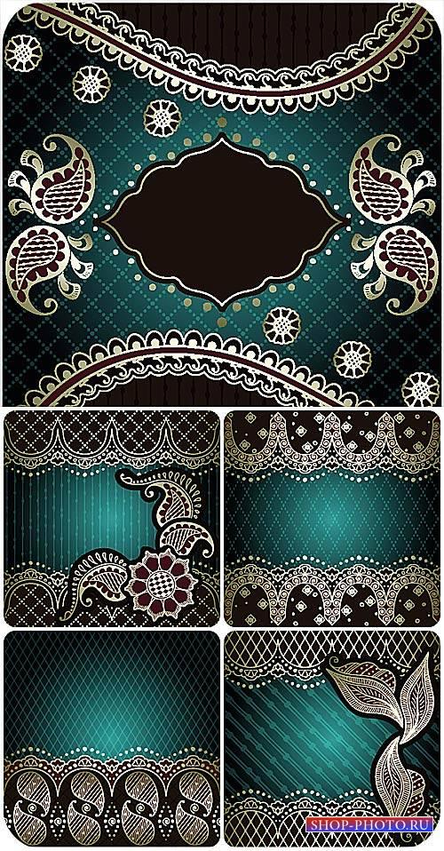 Векторные фоны с красивыми узорами / Vector background with beautiful patte ...