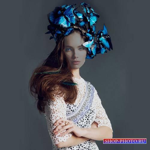 Шаблон psd - Мисс весна