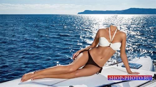 Шаблон для Photoshop - На яхте в море