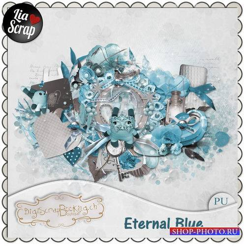 Романтический скрап-комплект - Бескрайняя синева