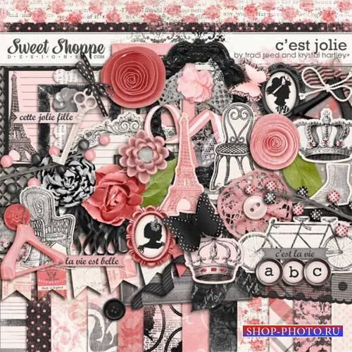 Винтажный скрап-комплект - C'est Jolie