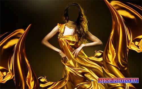 Шаблон женский - Брюнетка в красивом платье