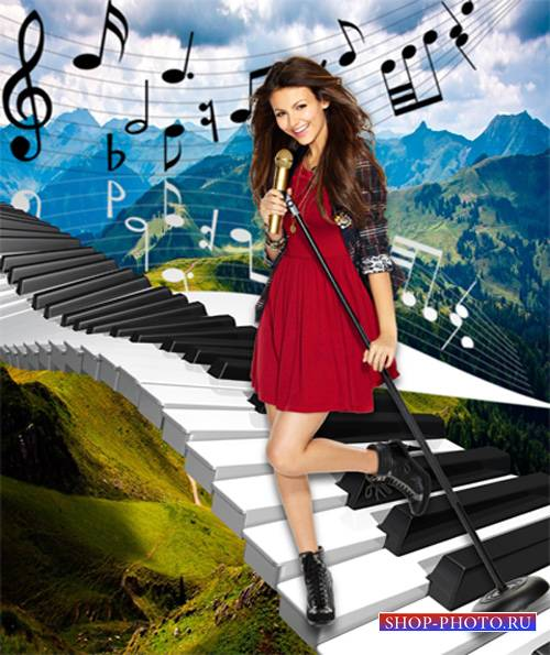 Шаблон  женский – Музыкальный Олимп