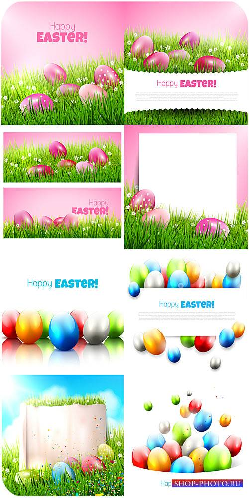 С праздником пасхи, векторные пасхальные яйца / Happy Easter , Easter eggs  ...