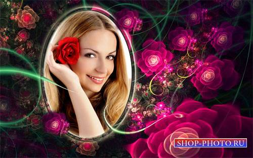 Рамка для фотомонтажа - Нежные розы