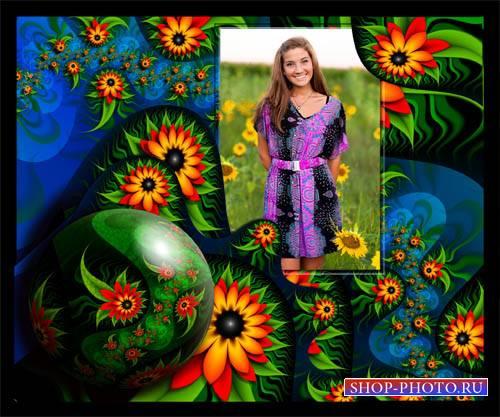 Фоторамка psd - Весенние цветы