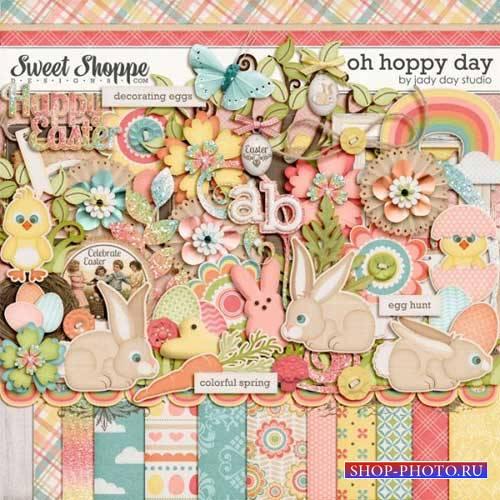 Пасхальный скрап-комплект - Oh hoppy day