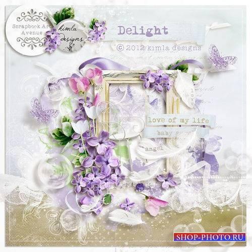 Цветочный скрап-комплект - Восторг