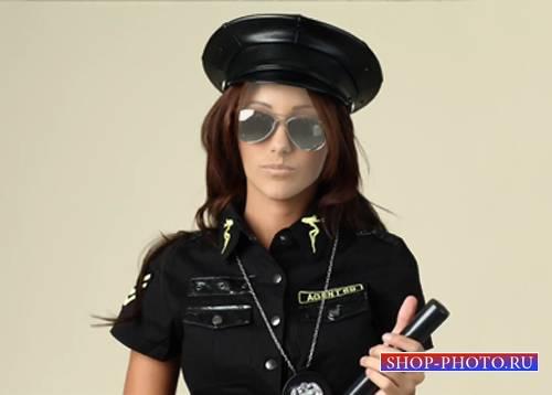 Шаблон женский - Красивая полицейская