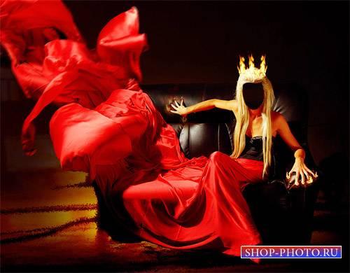 Шаблон для фото - Огненная королева