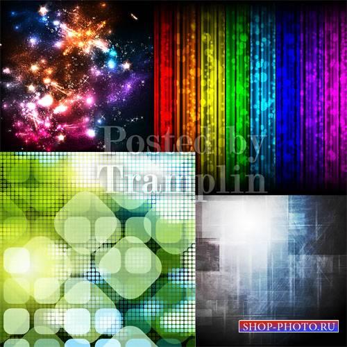 Светящиеся векторные фоны