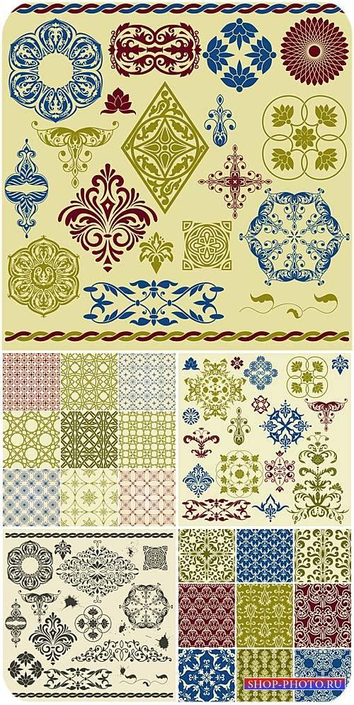 Дизайнерские элементы в векторе, текстуры / Design elements in the vector,  ...