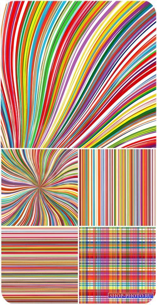 Векторные фоны с разноцветными линиями, абстракция / Vector backgrounds wit ...