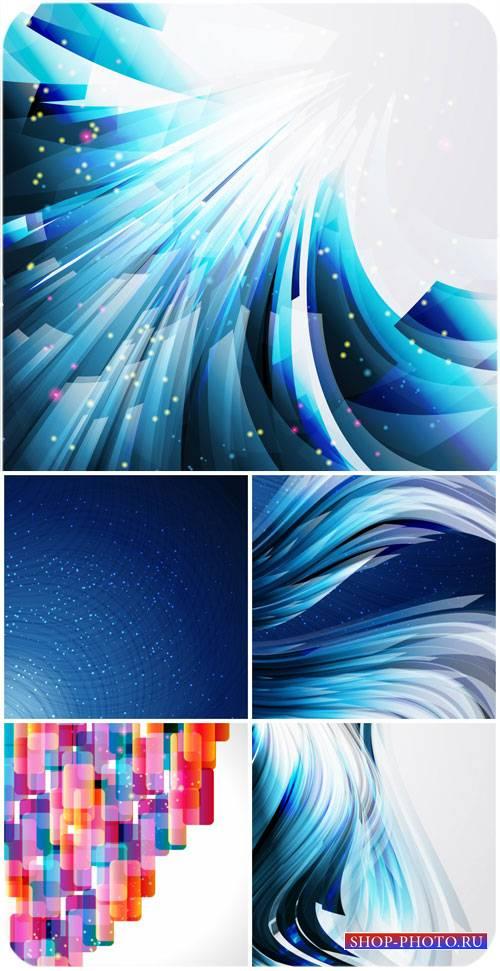 Абстракция в векторе, синие фоны / Abstract vector, blue backgrounds