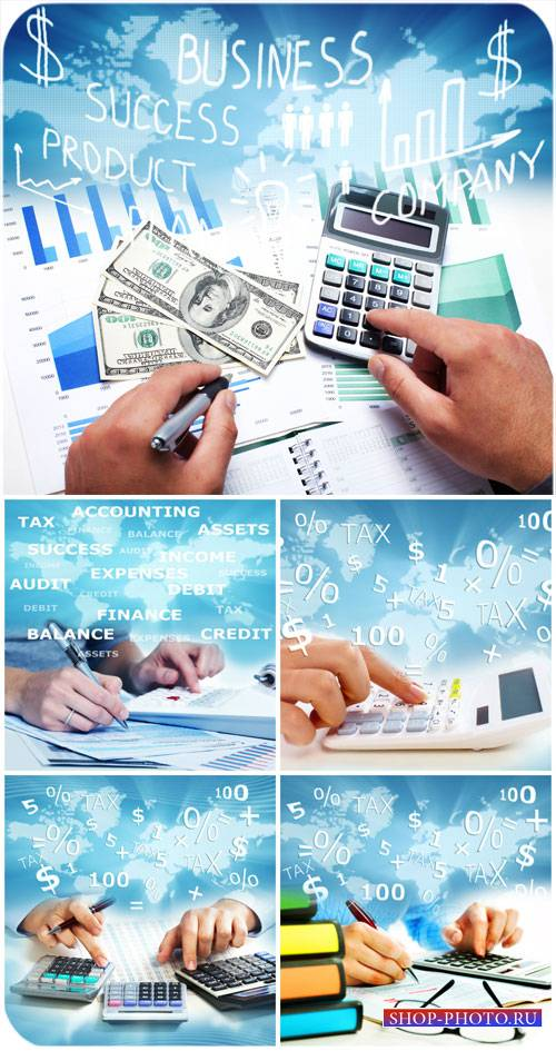 Бизнес фоны, учет, успех / Business backgrounds, accounting, success - Stock photo