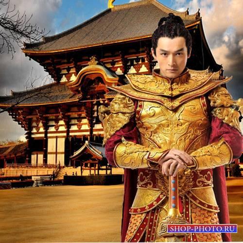 Шаблон  мужской - Золотой самурай