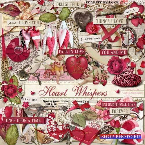 Романтический скрап-комплект - Шёпот сердца