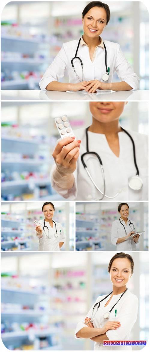 Женщина врач, медицина / Female medical doctor, medicine - stock photos