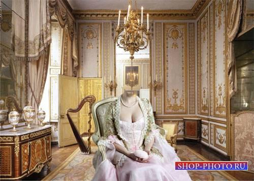 Женский шаблон - Дама на кресле во дворце