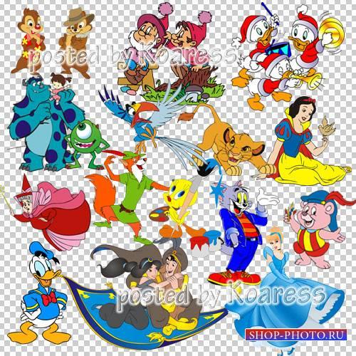 Png клипарт для дизайна на прозрачном фоне с персонажами любимых мультфильм ...