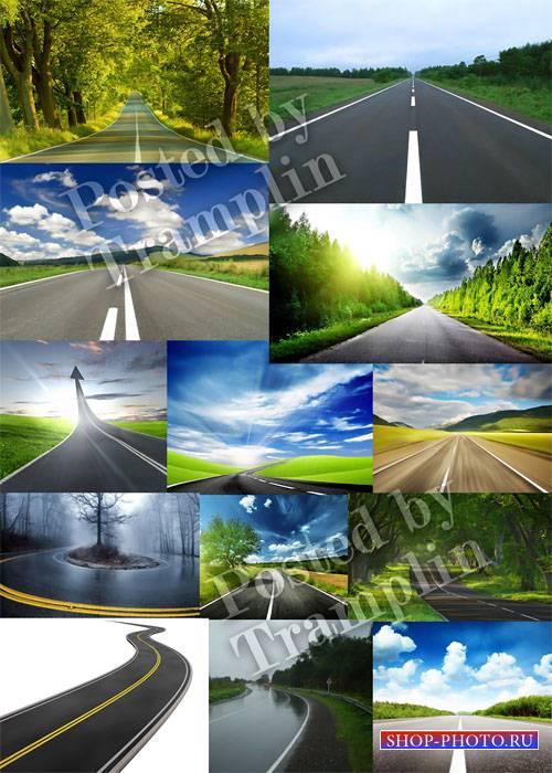 Дорога вдаль – Растровый клипарт