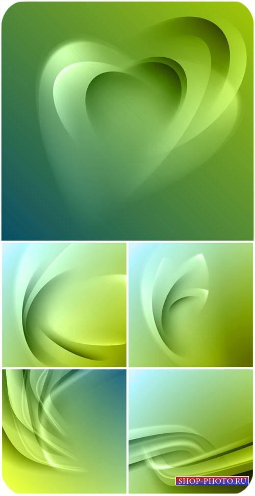 Векторные зеленые фоны с абстракцией / Vector green background with abstrac ...