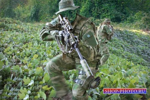 Шаблон мужской - Спецотряд с оружием