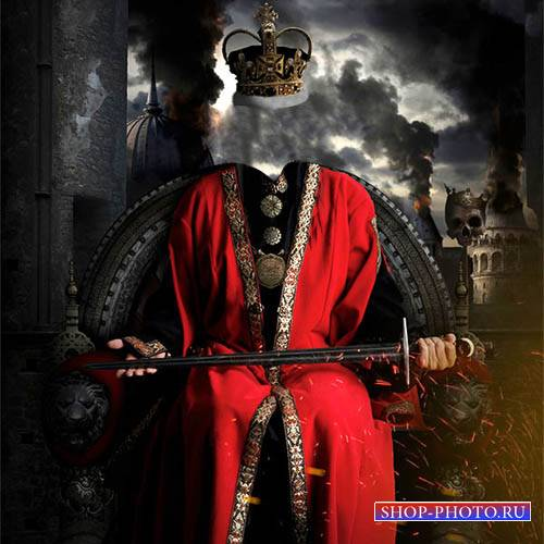 Мужской шаблон - Грозный царь с мечом