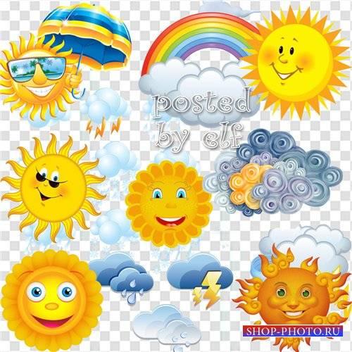 Облака и солнце - PNG клипарт