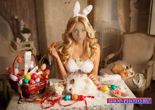 Женский шаблон - Милашка в костюме зайки