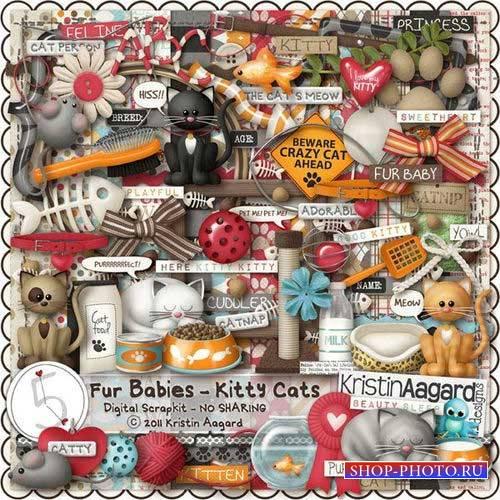 Скрап-набор для любителей кошек и собак - Мохнатые питомцы