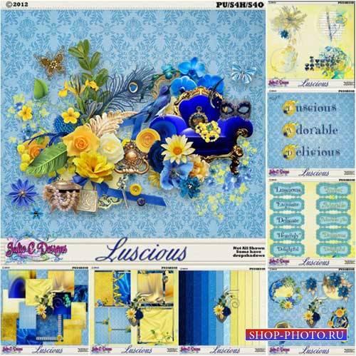 Яркий цветочный скрап-комплект - Luscious