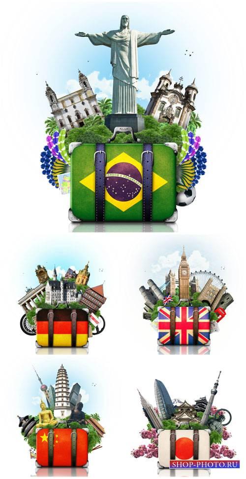 Путешествия по разным странам мира / Traveling - Stock photo