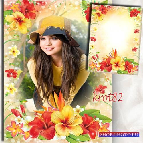 Рамка с цветами - Тропические цветы