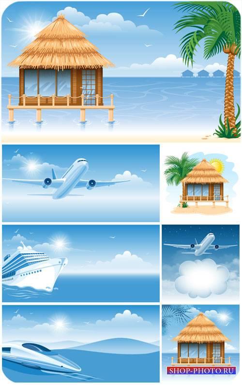 Лето, путешествие, отдых на море / Summer, travel, vacation at sea
