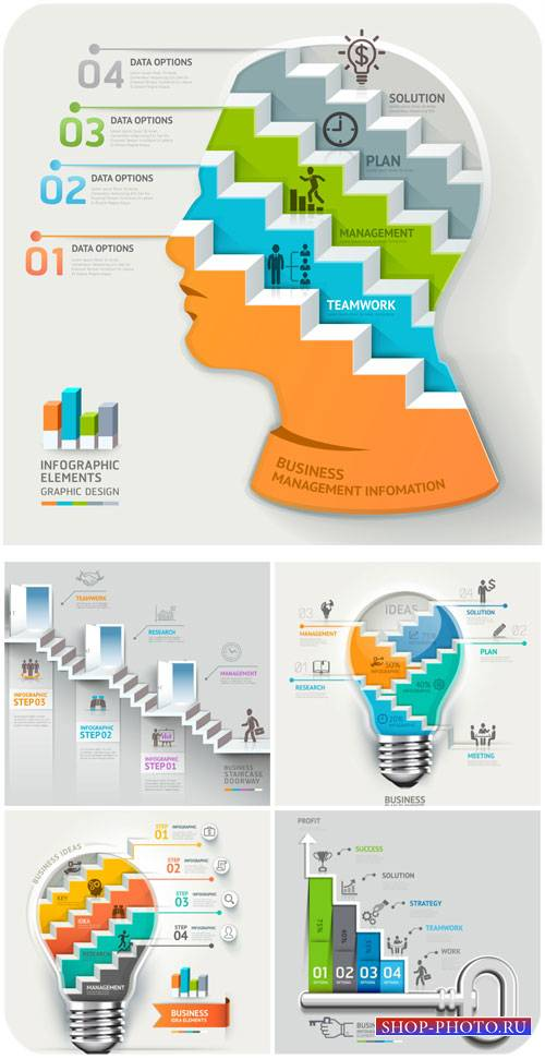 Бизнес-концепция, идеи и графика в векторе / Business concept, ideas and ve ...