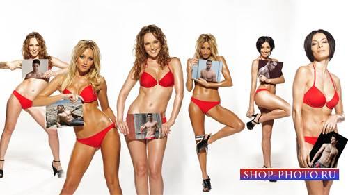 Рамка для фотомонтажа - 6 девушек с вашими фото