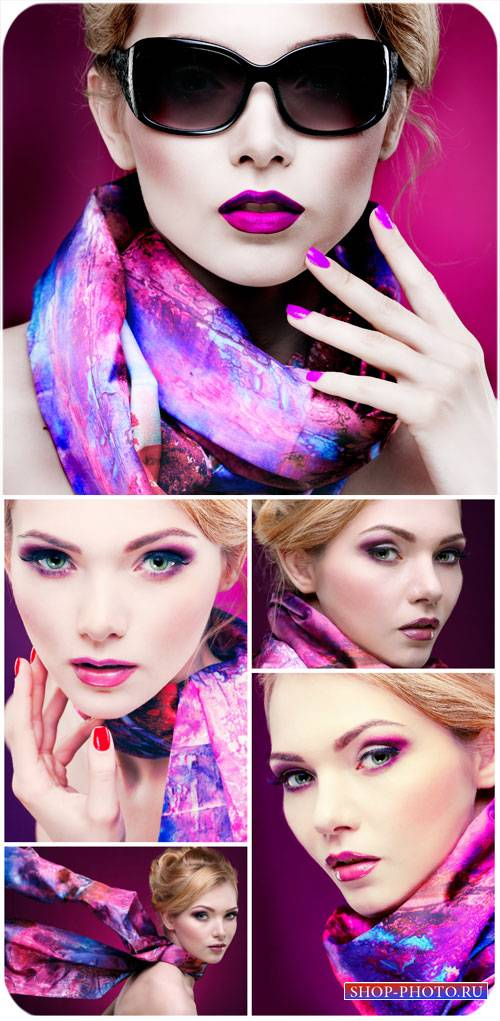 Модная девушка с ярким макияжем / Fashionable girl with bright makeup - Sto ...