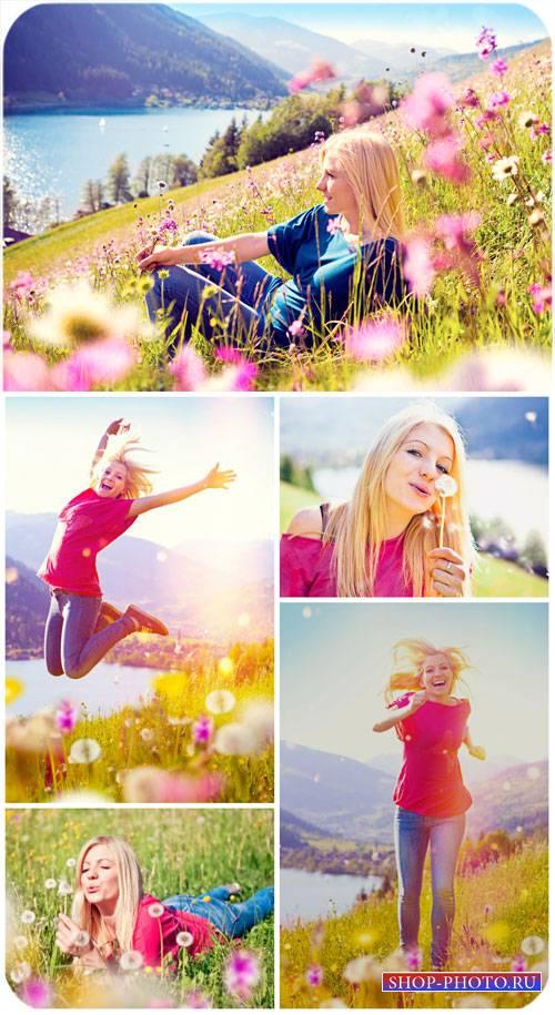Девушка и чудесные природные пейзажи / Girl and wonderful natural scenery - ...