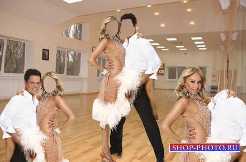 PSD шаблон для мужчин - Танцоры
